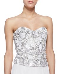 Alice + Olivia Ivy Beaded Sweetheart Bustier - Lyst