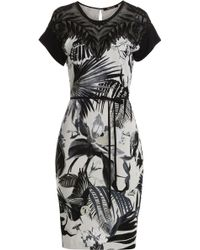 Roberto Cavalli Embellished Printed Dress - Lyst