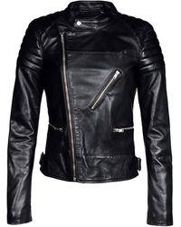 Blk Dnm Black Leather Outerwear - Lyst