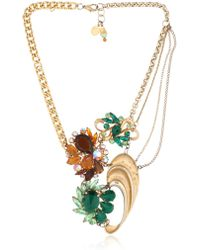 Maria Zureta - Green & Amber Necklace - Lyst