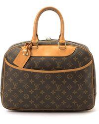 Louis Vuitton Brown Monogram Deauville Handbag - Lyst