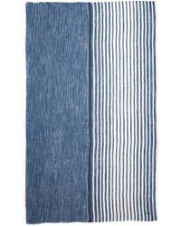 Armani Stripe Modal-Linen Scarf - Lyst