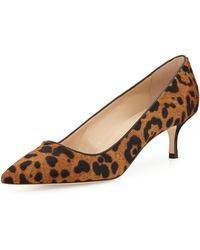 Manolo Blahnik Bb Leopardprint Calf Hair Pump - Lyst