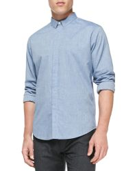 Theory Cottonflannel Flyfront Shirt - Lyst