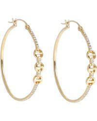 Hoorsenbuhs | Diamond & Gold Tri-link Hoops | Lyst