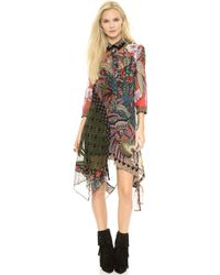 Just Cavalli Gypsy Fever Print Dress  Multicolor - Lyst