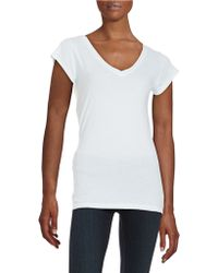 Lamade - V-neck Cotton Tee - Lyst