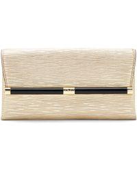 Diane von Furstenberg 440 Envelope Metallic Twig Leather Clutch - Lyst