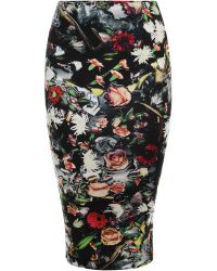 McQ by Alexander McQueen Festival Floral Contour Skirt - Lyst