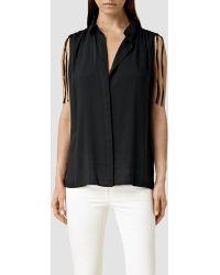 AllSaints Drain Shirt - Lyst