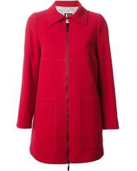 Isola Marras - Wool-Blend Zip-Front Coat - Lyst