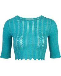 Mandkhai - Knitted Crop Tee - Lyst