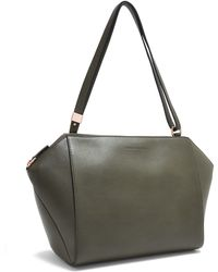 Cedric Charlier Khaki Shoulder Bag - Lyst