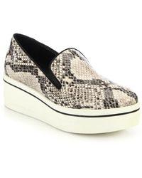 Stella McCartney   Rubber-platform Faux Python Loafers   Lyst