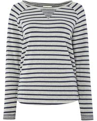 Linea Weekend Stripe Jersey Top - Lyst
