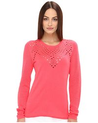 Rachel Roy Knit Top W Hole Detail - Lyst