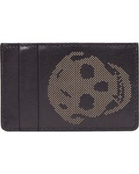 Alexander McQueen Black Leather Skull Card Holder - Lyst