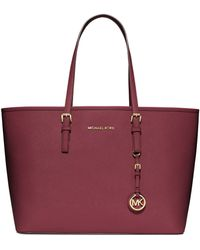 Michael by Michael Kors Jet Set Travel Leather Multifunction Tote Bag - Lyst