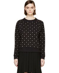 Saint Laurent Studded Sweatshirt - Lyst