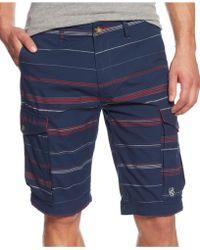 LRG Big & Tall Striped Cargo Shorts - Lyst