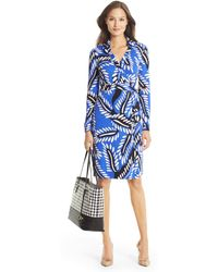 Diane von Furstenberg New Jeanne Two Silk Jersey Wrap Dress - Lyst