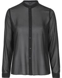 Topshop Pleat Back Shirt - Lyst