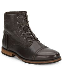 Marc New York By Andrew Marc Citizen Leather Cap-toe Boots - Lyst