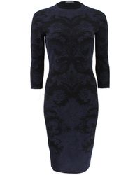 Alexander McQueen Baroque Lace Knit Dress - Lyst