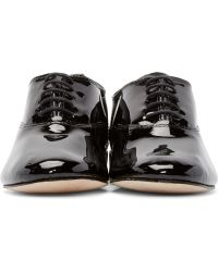 Repetto - Black Patent Leather Zizi Oxfords - Lyst