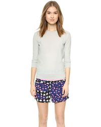 Sonia By Sonia Rykiel Silk Detailed Pullover - Streetcorallilac - Lyst
