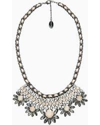 Violeta by Mango Rhinestone Crystal Necklace - Lyst