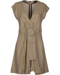 Coast Beige Short Dress - Lyst