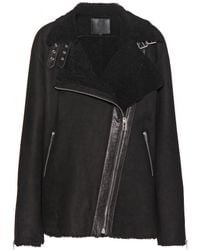 McQ by Alexander McQueen Shearling Jacket - Lyst