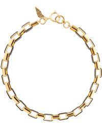 Diane von Furstenberg - Gold-plated And Leather Necklace - Lyst