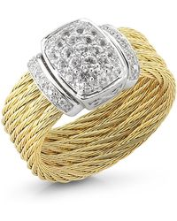 Charriol Sapphire Yellowcable Ring Size 65 gold - Lyst