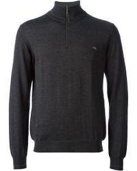 Etro Zipper Sweater - Lyst