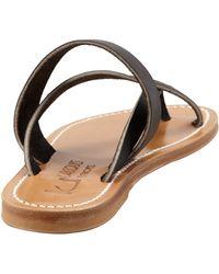 K. Jacques Nehru Crisscross Toe Ring Flat Sandal - Lyst