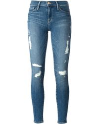 Frame Denim Blue Matt Jeans - Lyst