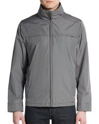 Calvin Klein Water-Resistant Zip-Front Jacket - Lyst