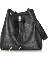 Class Roberto Cavalli - Pantera Nera Black Embossed Leather Satchel Bag - Lyst