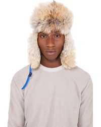 Canada Goose - Blue Coyote Fur Aviator Hat - Lyst