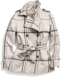 Coach Tattersall Short Trench - Lyst
