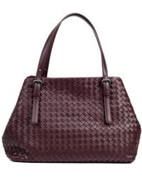 Bottega Veneta Intrecciato Small Leather Tote - Lyst