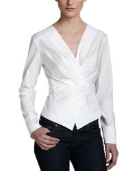 Donna Karan New York Wrap  Tie Shirt Jacket - Lyst