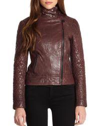 Mackage Distressed Leather Biker Jacket - Lyst