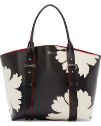 Alexander McQueen Black Floral Small Legend Tote - Lyst