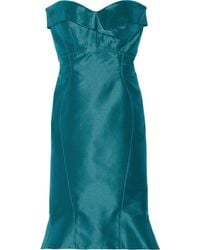 Zac Posen Silktwill Dress - Lyst