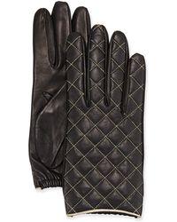 Portolano Diamond-Quilted Leather Glove - Lyst