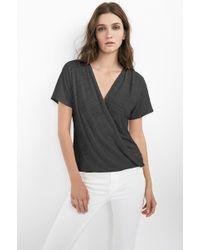 Velvet By Graham & Spencer Rasheeda Soft Texture Knit Crossover Top - Lyst