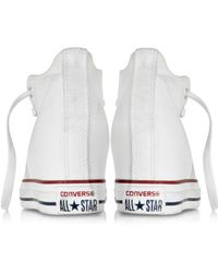 Converse - All Star Mid Lux White Canvas Wedge Sneaker - Lyst
